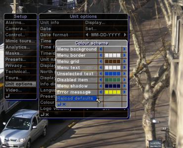 Organon User Interface - Customisable colours