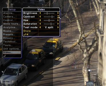 Organon User Interface - Video settings